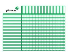 Girl Scout Attendance And Badge Chart Good Idea To Keep Track