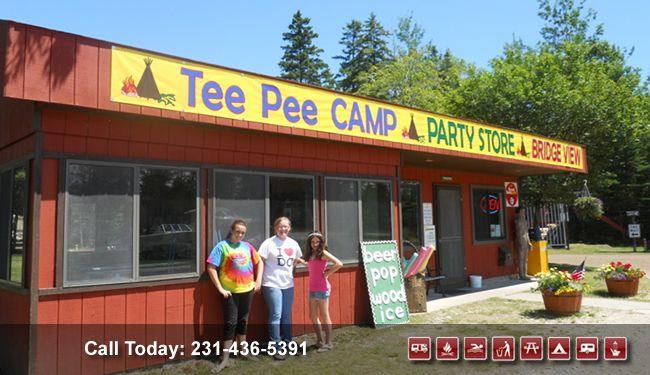 Tee Pee Campground Mackinaw City Mi Mackinaw City Mackinaw Teepee