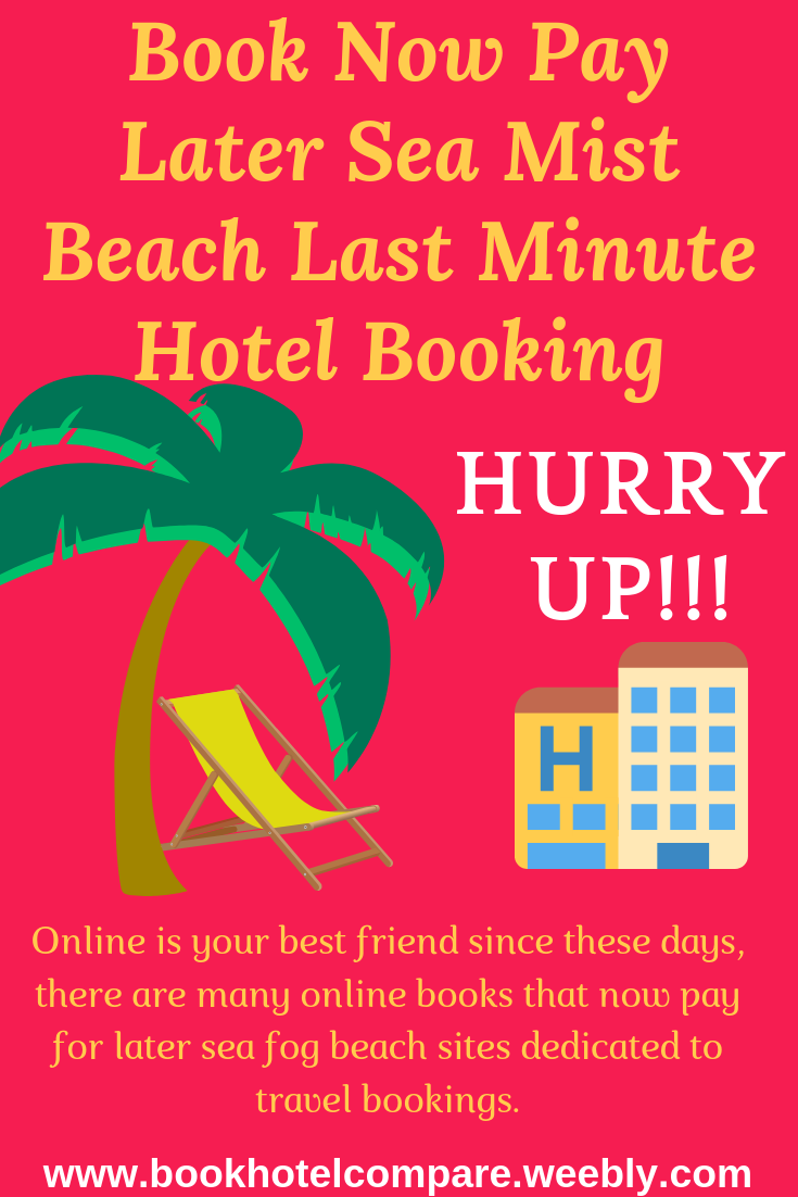 Book Now Pay Later Sea Mist Beach Last Minute Hotel Booking Short Vacation Beach Books Mists