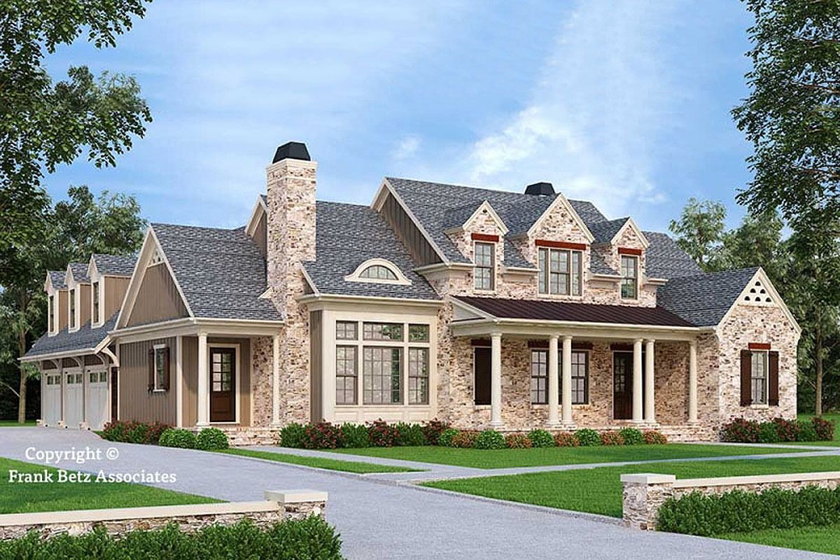 Plan 710110btz 4 Bed Old World English Style House Plan Brick House Plans Southern House Plans House Plans Farmhouse