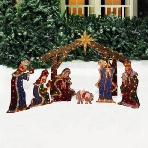 Christmas Holy Family 3 Wise Men Jesus Indoor Outdoor Yard Nativity Scene Decor Unbranded Outdoor Nativity Outdoor Nativity Sets Outdoor Holiday Decor