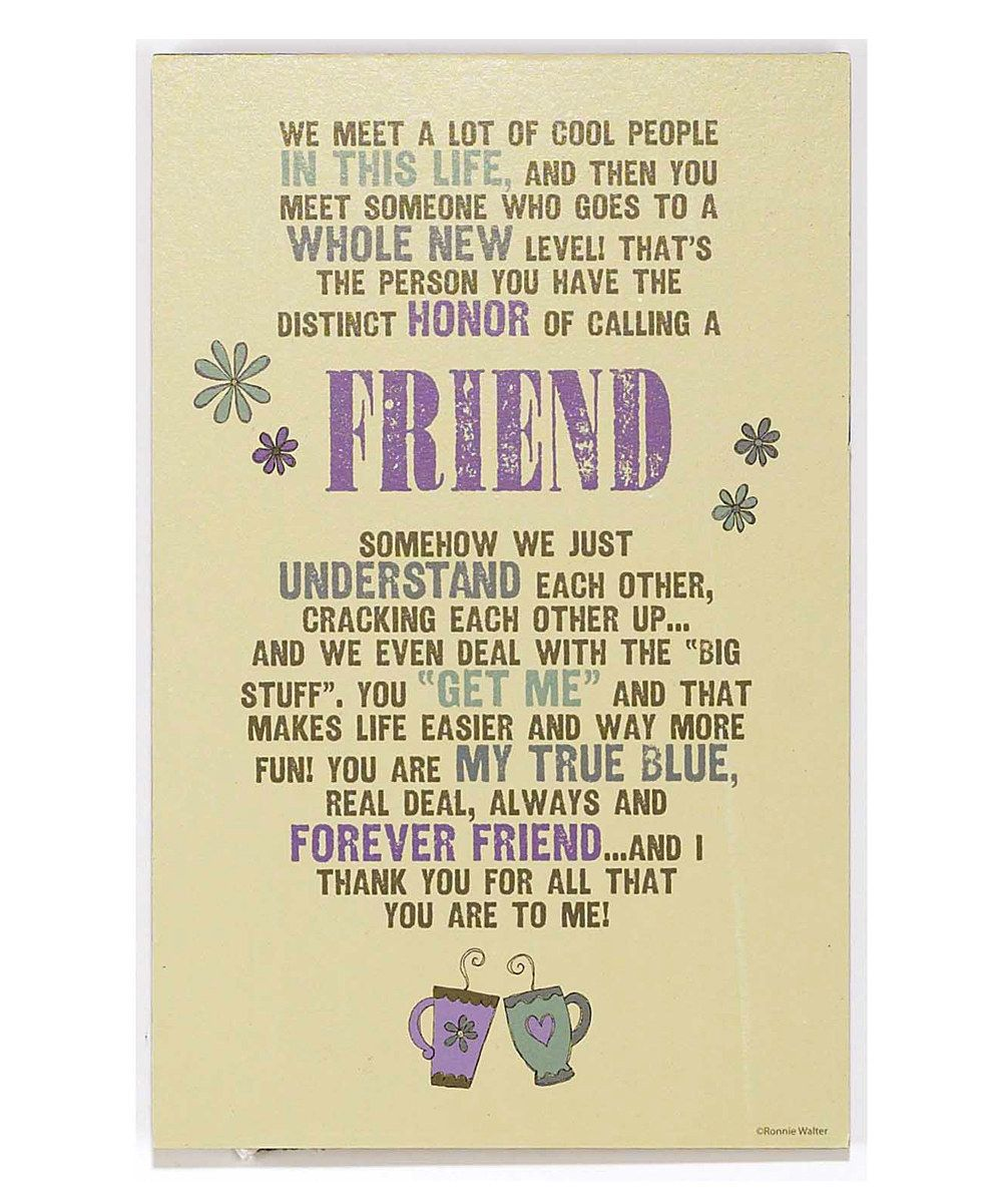Perfect Friends Plaque Wall Decor Image Collection - Wall Art ...