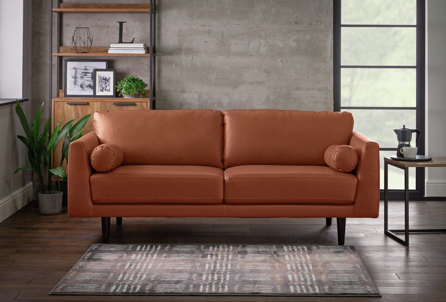 Buy Argos Home Jackson 3 Seater Leather Sofa Tan Sofas In 2020 Leather Sofa 3 Seater Leather Sofa Sofa
