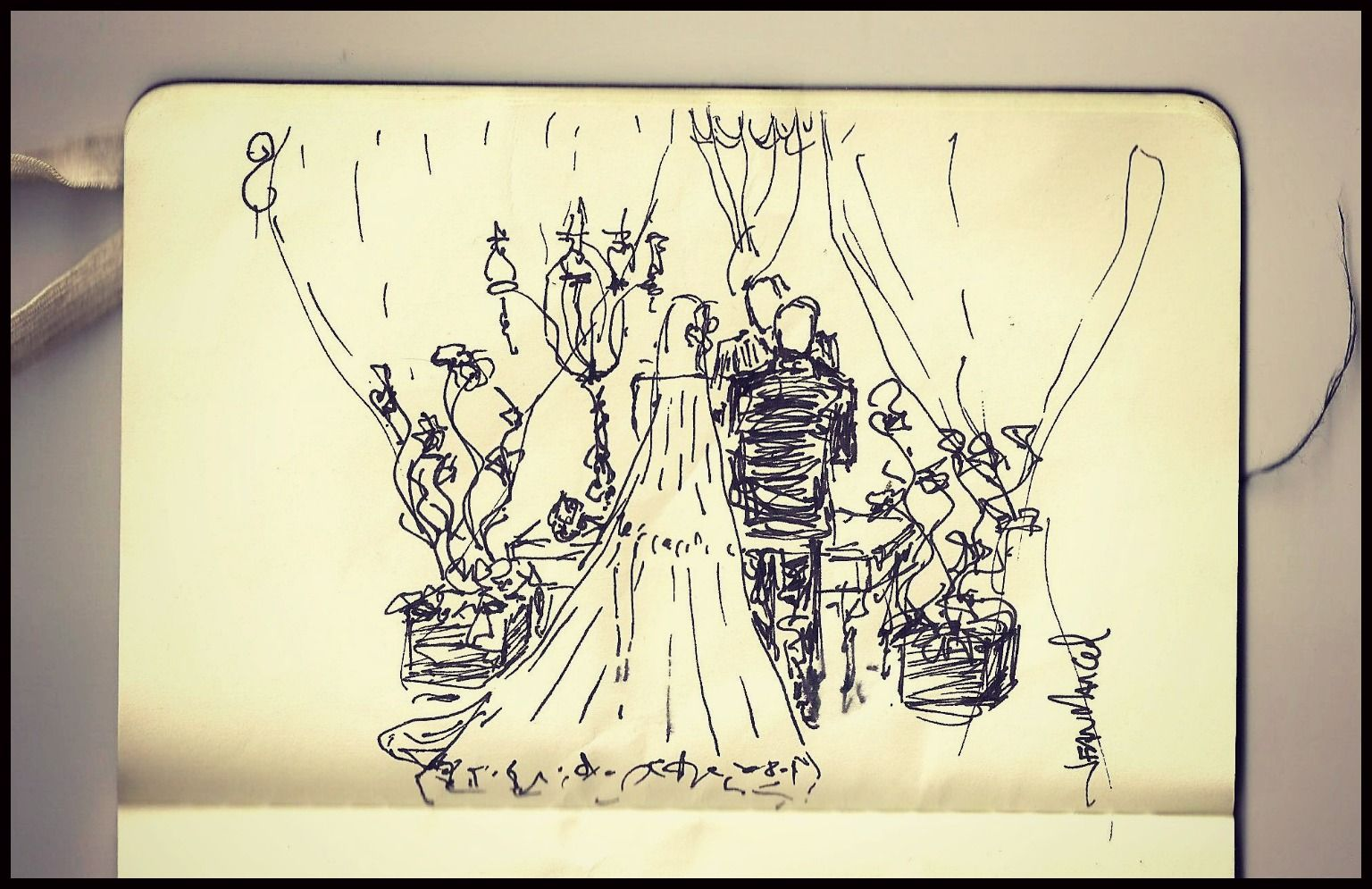 "Sketch - ""The wedding of Andrea and George"""