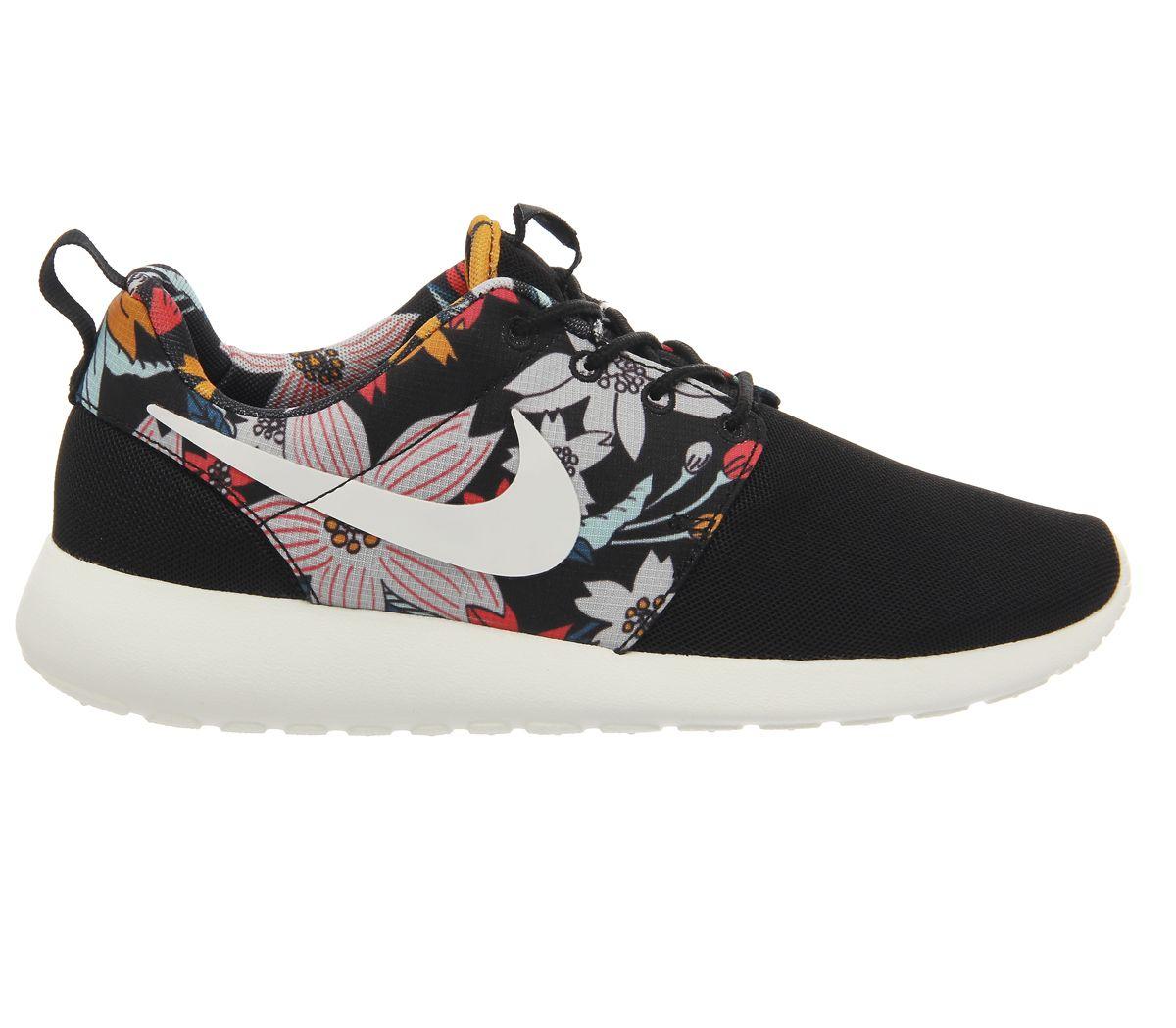 a9cca6871c7a Nike Roshe Run Black Aloha Print W nike mens roshe run aloha floral ...