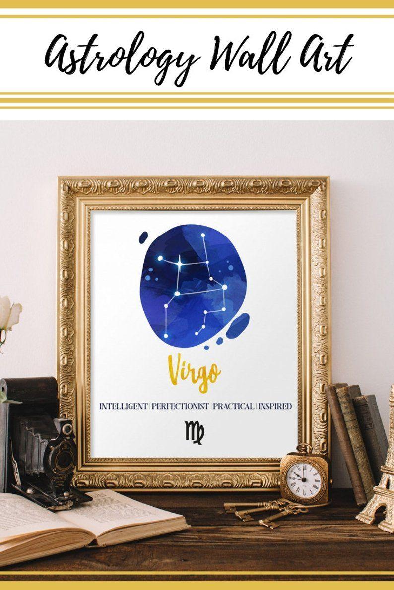 Virgo Art Zodiac Wall Art Star Chart Constellation Art Etsy Virgo Art Horoscope Art Constellation Art