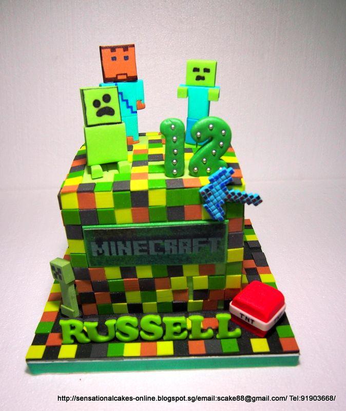 Minecraft Cake Cakes2share Singapore Minecraft Cake Singapore