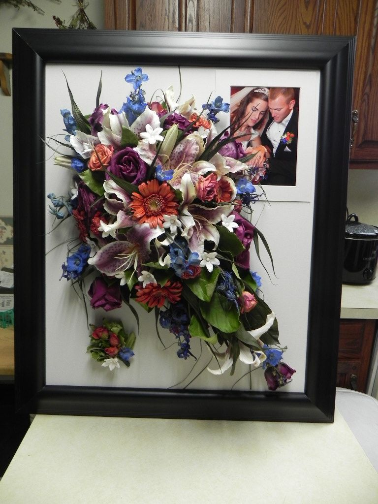 Bridal Bouquet That Was Freeze Dried In A 16x24 Wall Done Frozencreekfloral