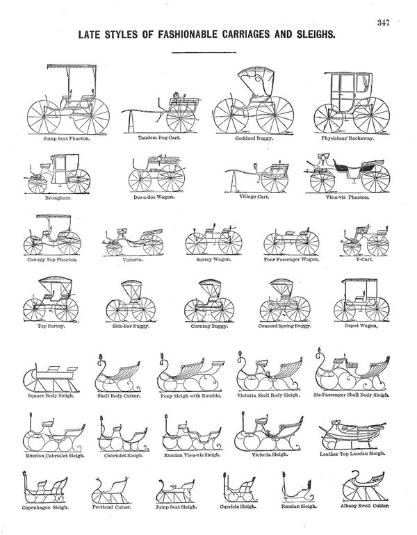 Percy Bloom Fashionable Carriages And Sleighs Dozens Of