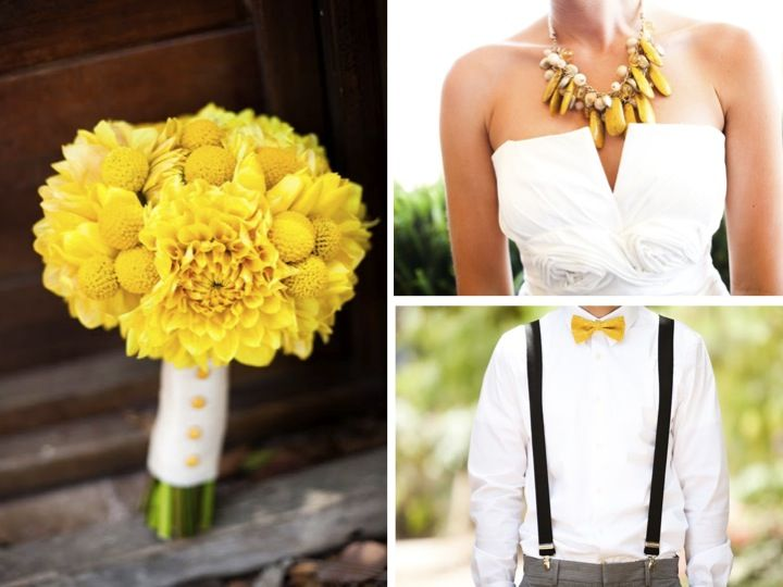 A Yellow & Aqua California Wedding, bouquet flowers for wedding