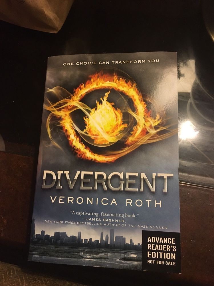 Arc Advance Reading Copy Divergent By Veronica Roth Ebay