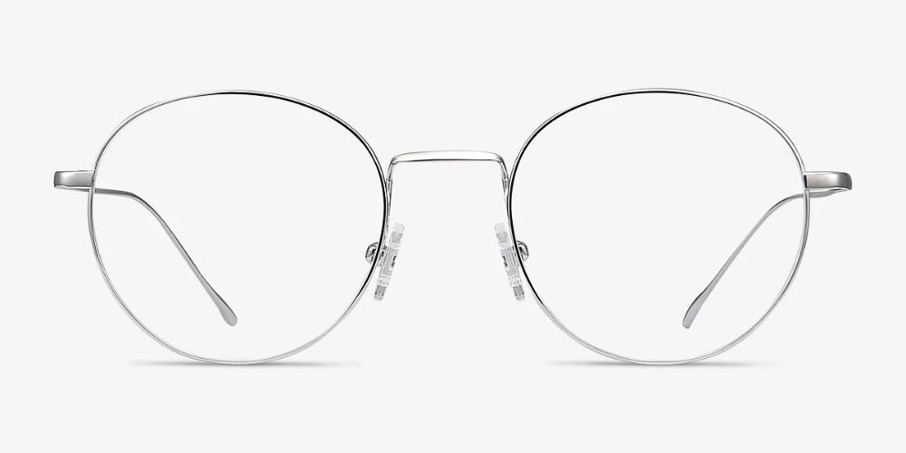 Aegis Round Silver Frame Eyeglasses Eyebuydirect Eyebuydirect Titanium Eyeglass Frames Silver Frame