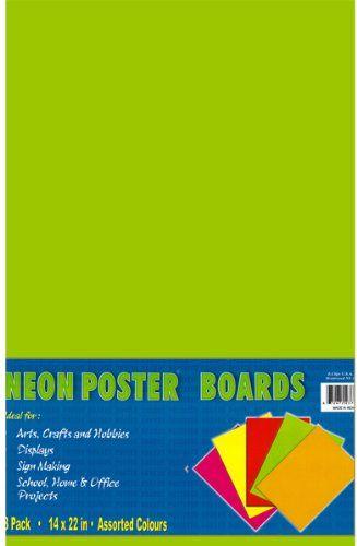 neon posterboard 14 x 22 50 pcs sku