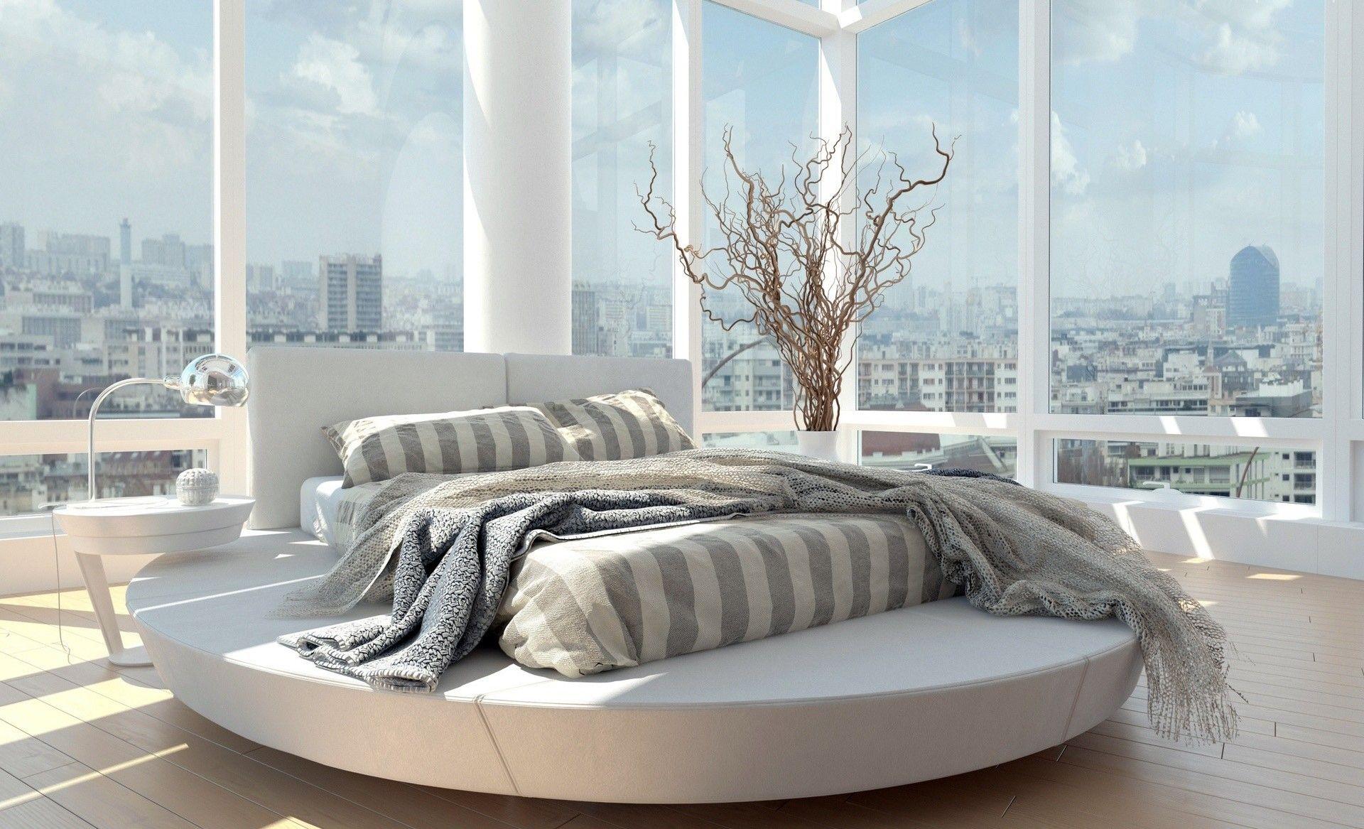Circle Bed | Bedroom interior, Master bedroom design, Modern master bedroom  design