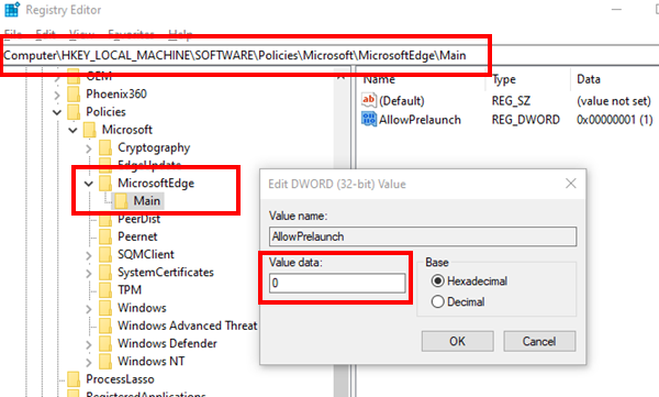 Disable Microsoft Edge From Running In The Background Microsoft Windows Defender Windows
