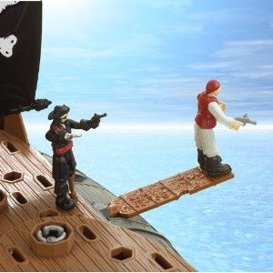 Matchbox Mega Rig Pirates Ship (with plank)