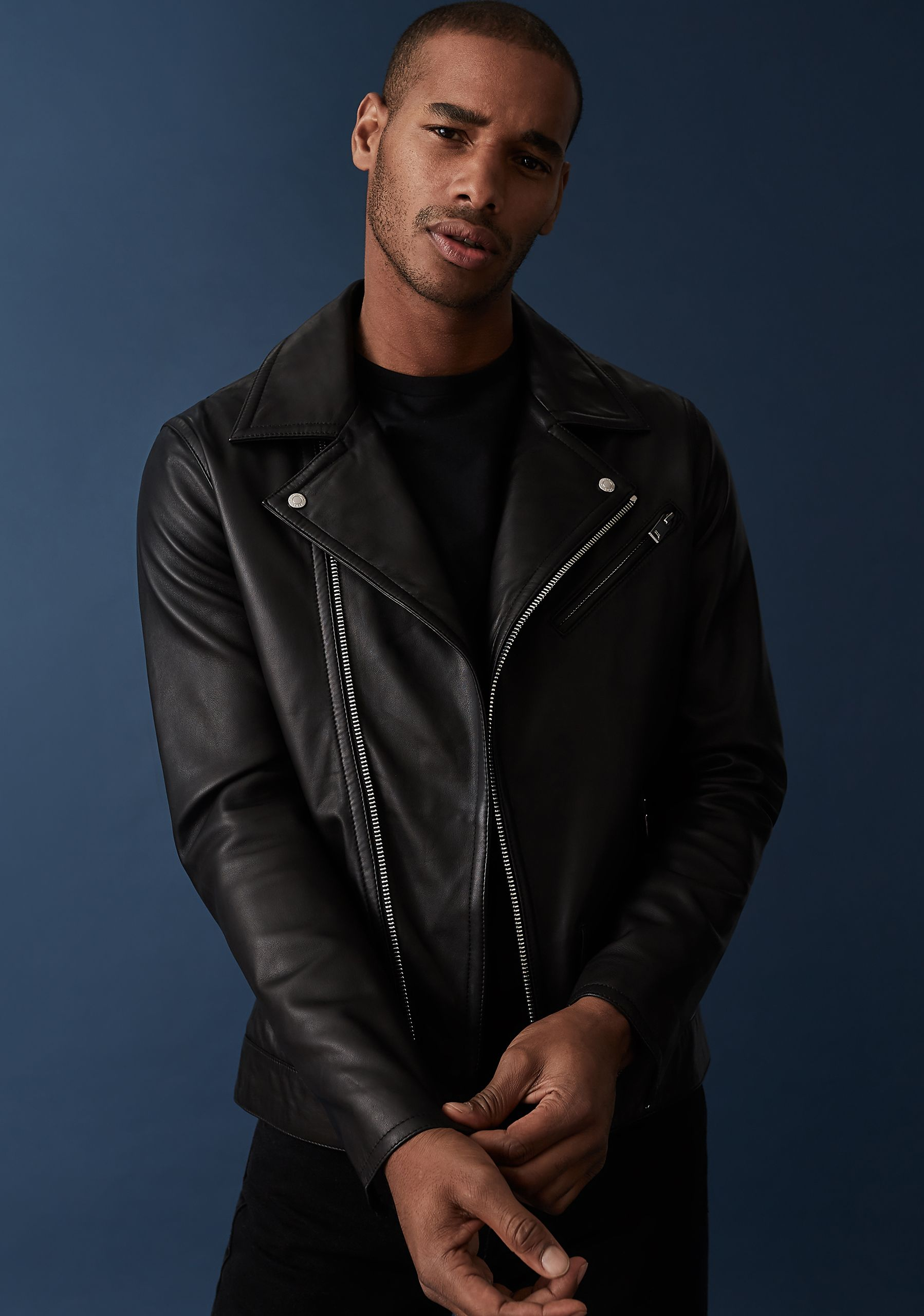Pin By Rae Corey On Men In Leather Jacket In 2020 Reiss Leather Jacket Leather Jacket Men Jackets [ 2559 x 1798 Pixel ]