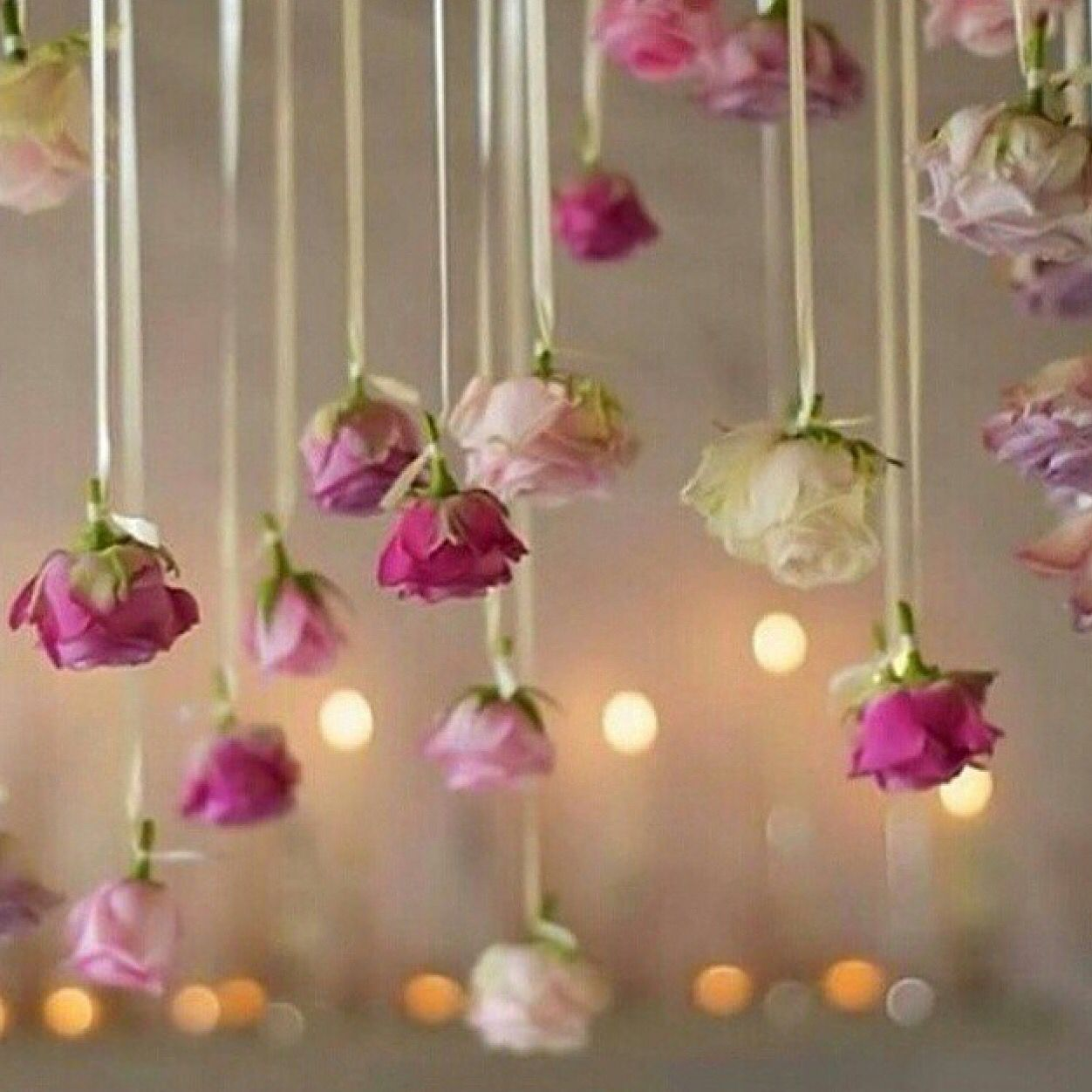 Trend alert hanging flowers give your wedding a magical for Wedding ornaments