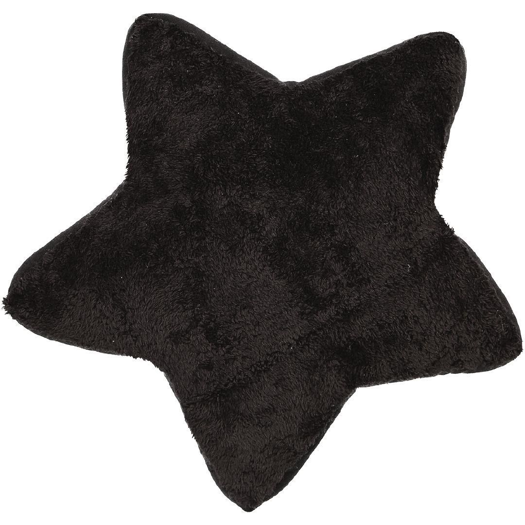 Living Co Cushion Plush Star Black 40cm The Warehouse In 2020