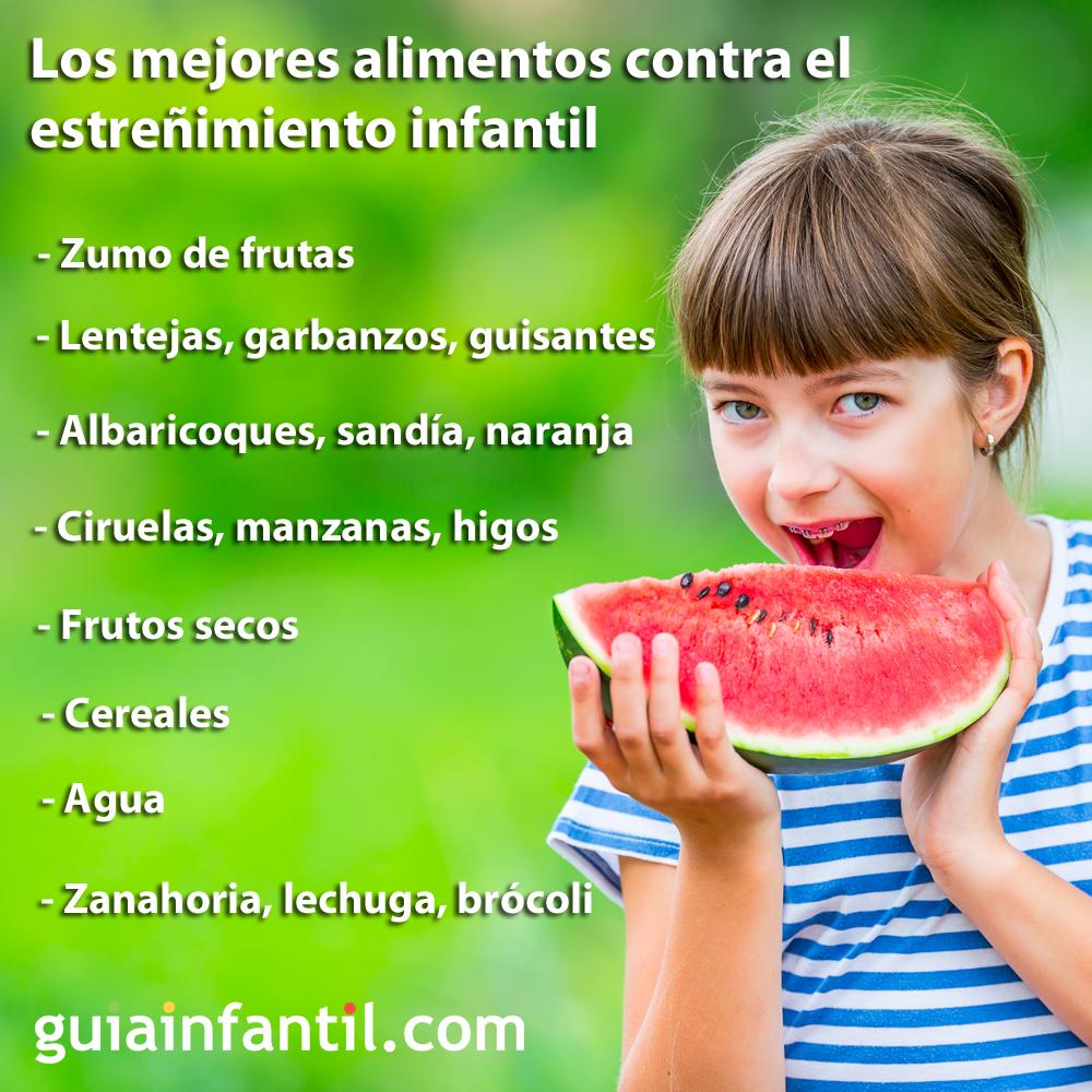 alimentos naturales para el estreñimiento infantil