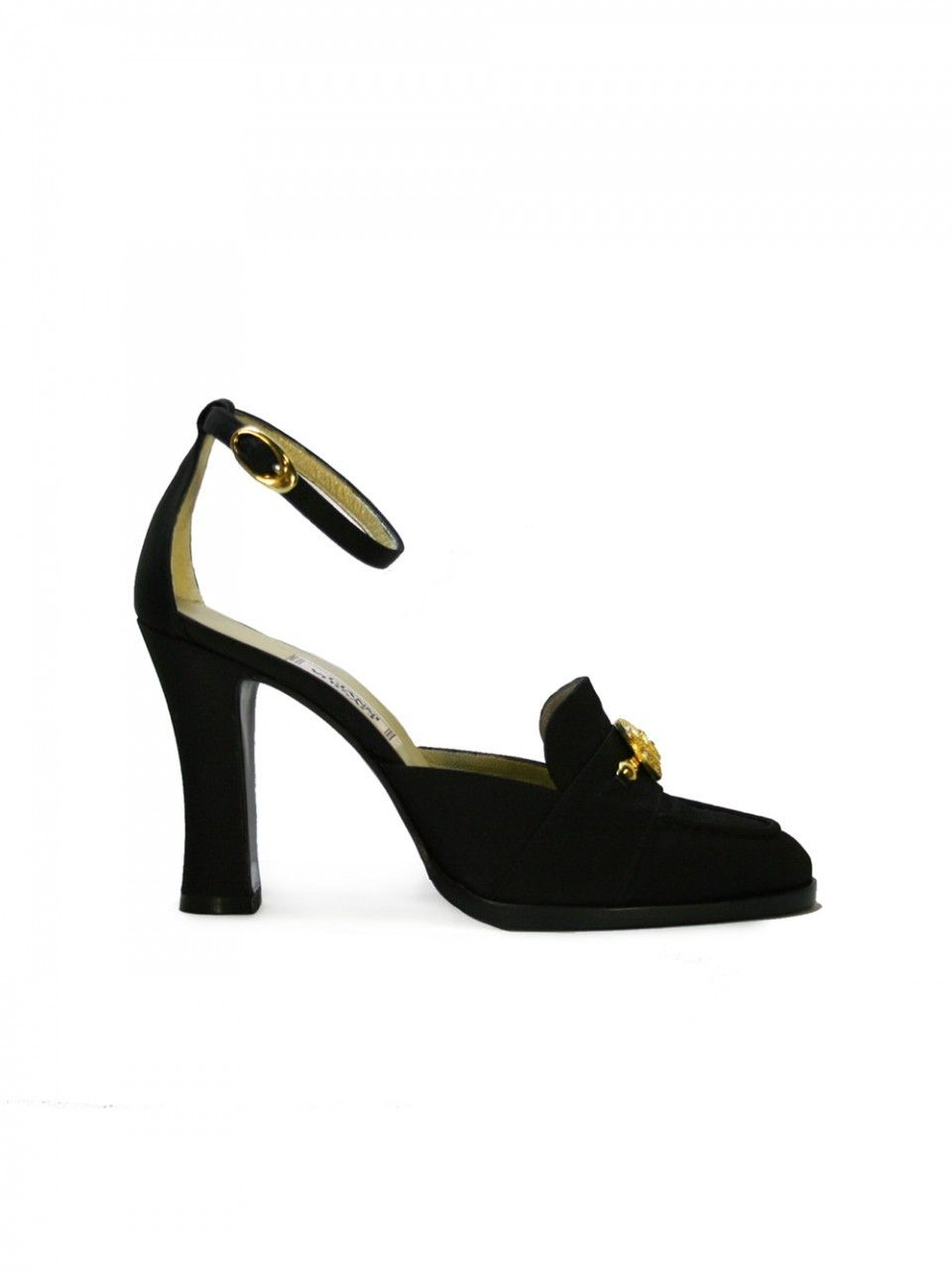 cheap sale clearance Gianni Versace Suede Wrap-Around Pumps really sale online nJE3G