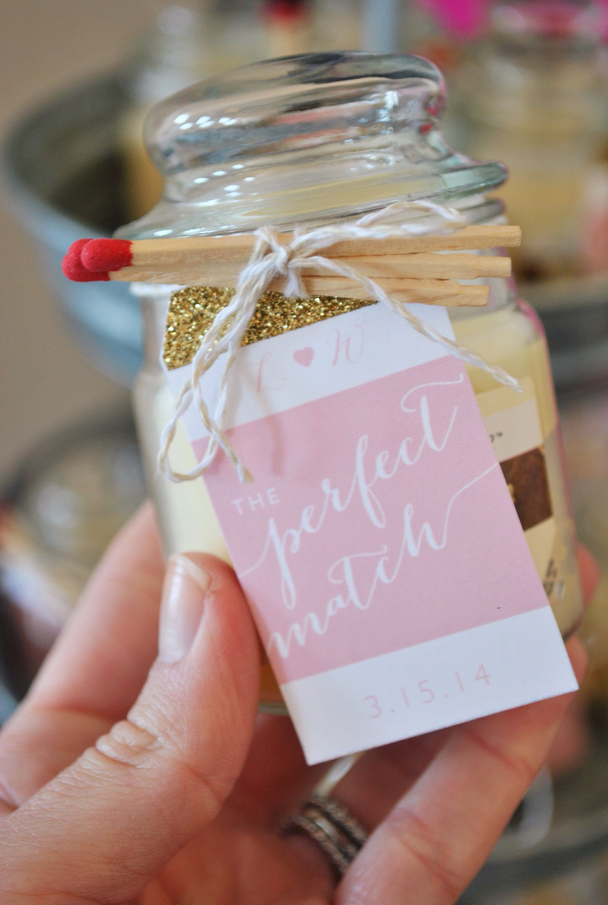 The perfect match! Wedding matches favors, Bridal shower