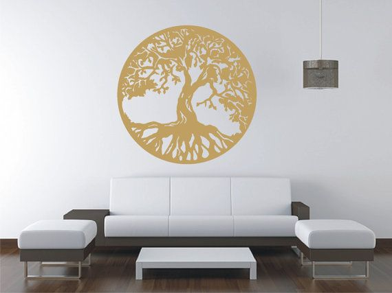 GOLD Tree Of Life Vinyl Decal Wall Sticker Wall Tattoo by Tibi291 $20.00 & GOLD Tree Of Life Vinyl Decal Wall Sticker Wall Tattoo by Tibi291 ...