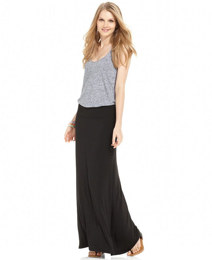 b50002a20 Kensie Solid Knit Maxi Skirt | Products | Womens maxi skirts, Maxi ...