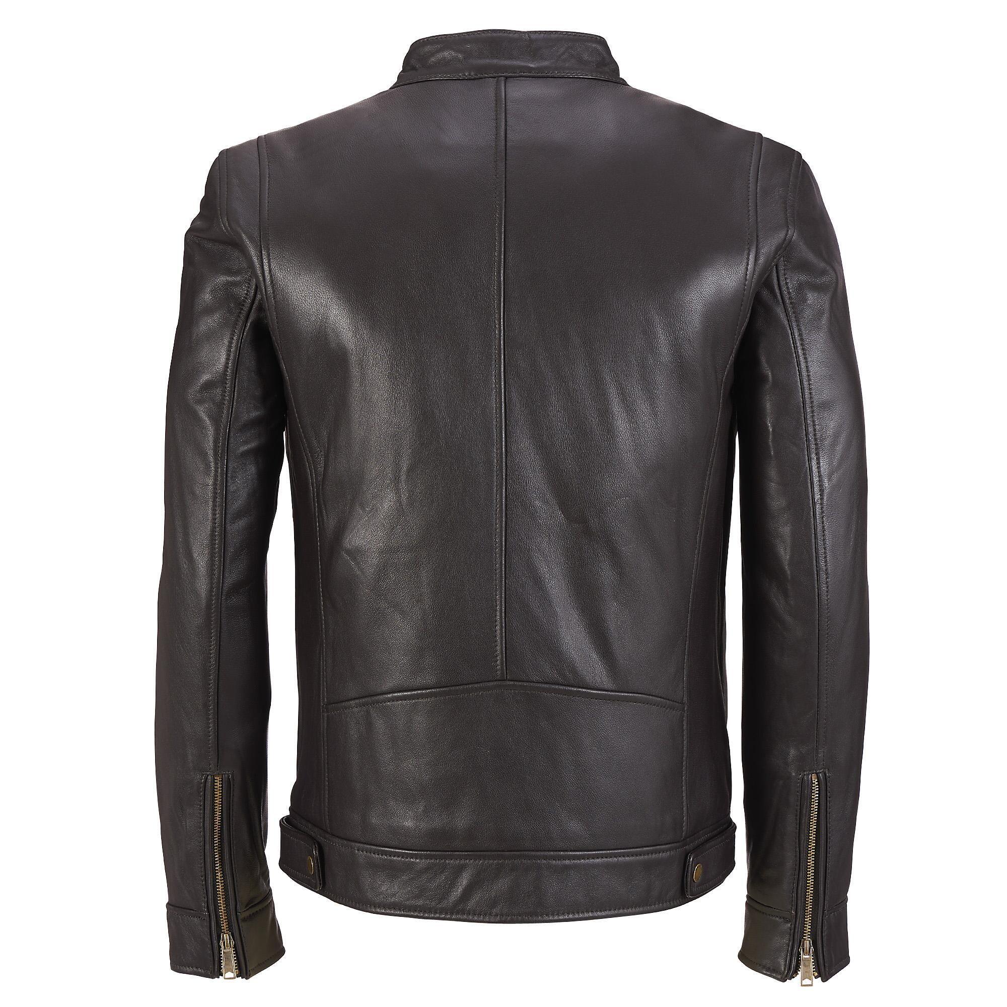 Zippered Cuff Sleeves Short Wilsons Leather Mens Big And Tall Custom Jacket [ jpg ]