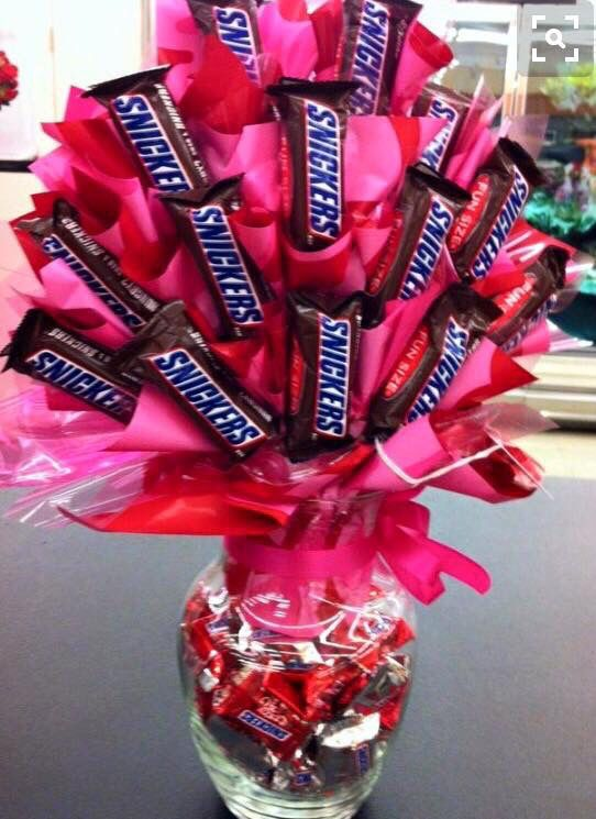 Candy bar bouquet … | Candie flower bouquet and doll | Pinte…