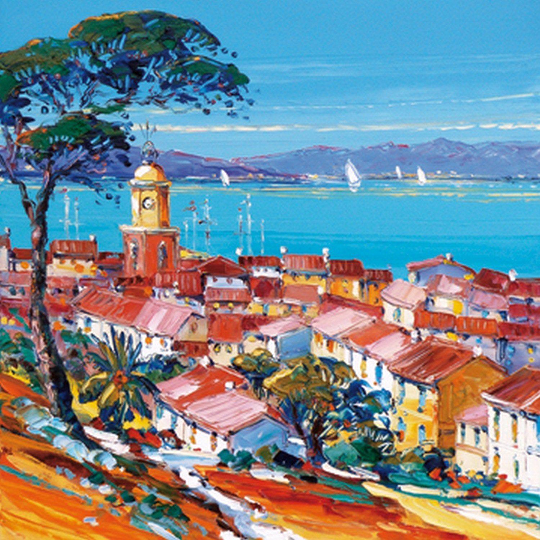 Affiche St Tropez Ii L 30 X H 30 Cm Paysage De Provence Paysage