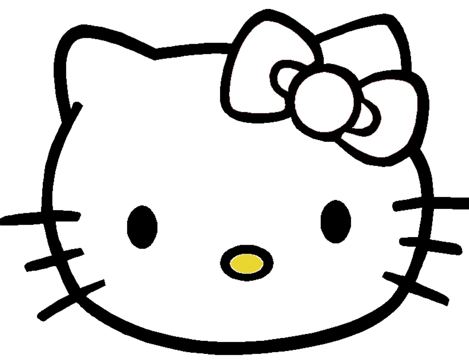 pin the bow on hello kitty template | all about hello kitty ...