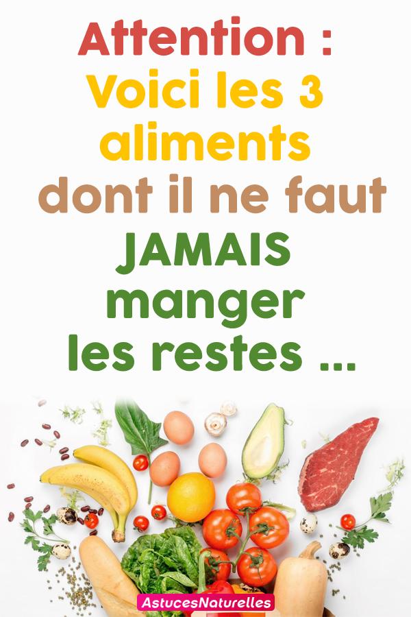 Attention : Voici les 3 aliments dont il ne faut JAMAIS
