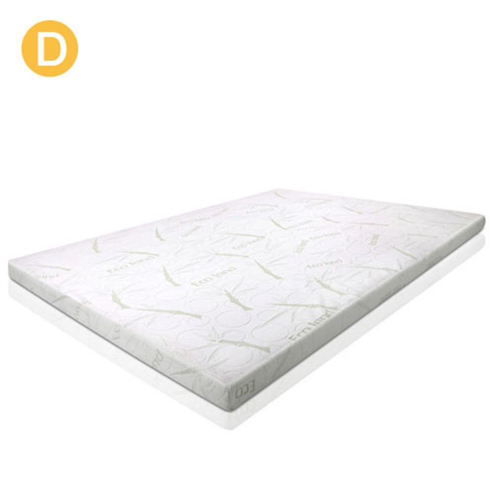 gel memory foam mattress 5cm topper organic bamboo fabric w cover