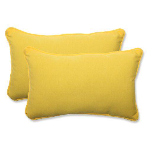 Pillow Perfect Outdoor Fresco Yellow Rectangular Throw Pi Http Amazing Rectangular Decorative Pillows For Couch