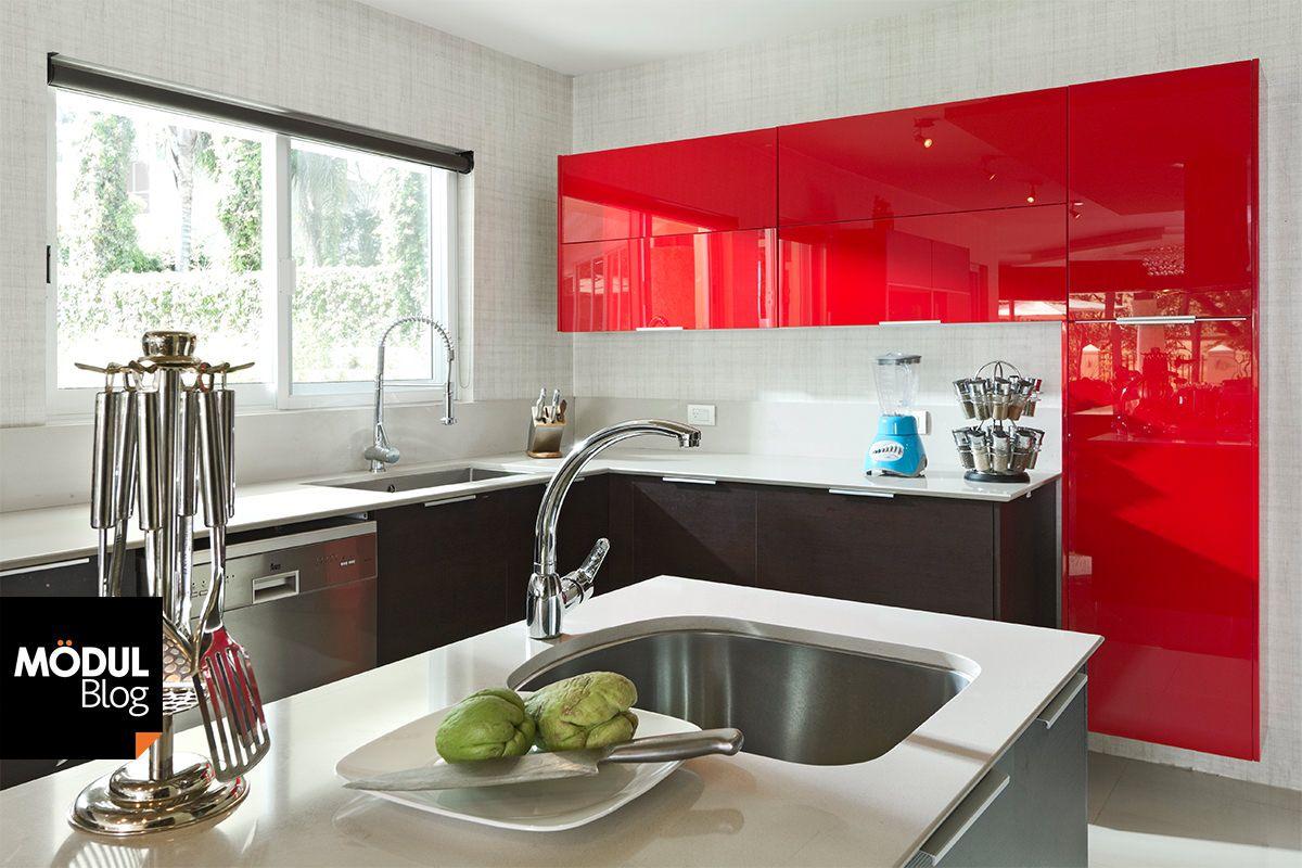 Alto brillo, un acabado funcional y estético para tu cocina ...