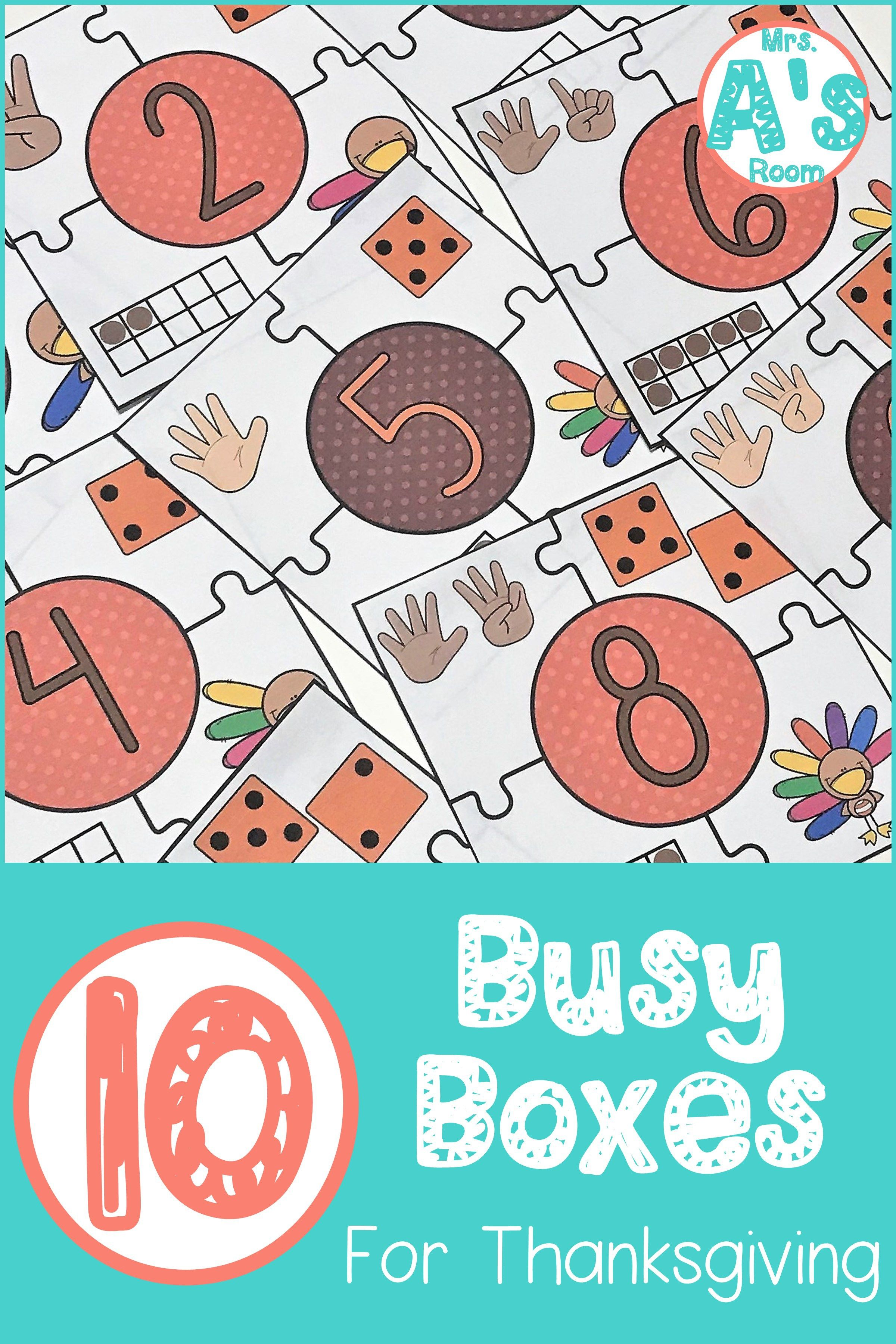 10 Thanksgiving Busy Boxes Education