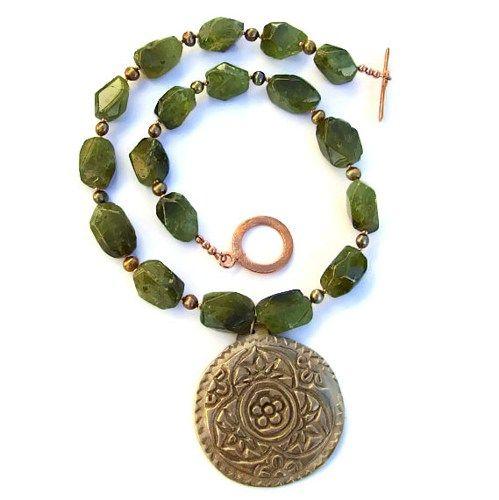 Handmade Gemstone Jewelry Designs | Mandala Pendant Handmade ...