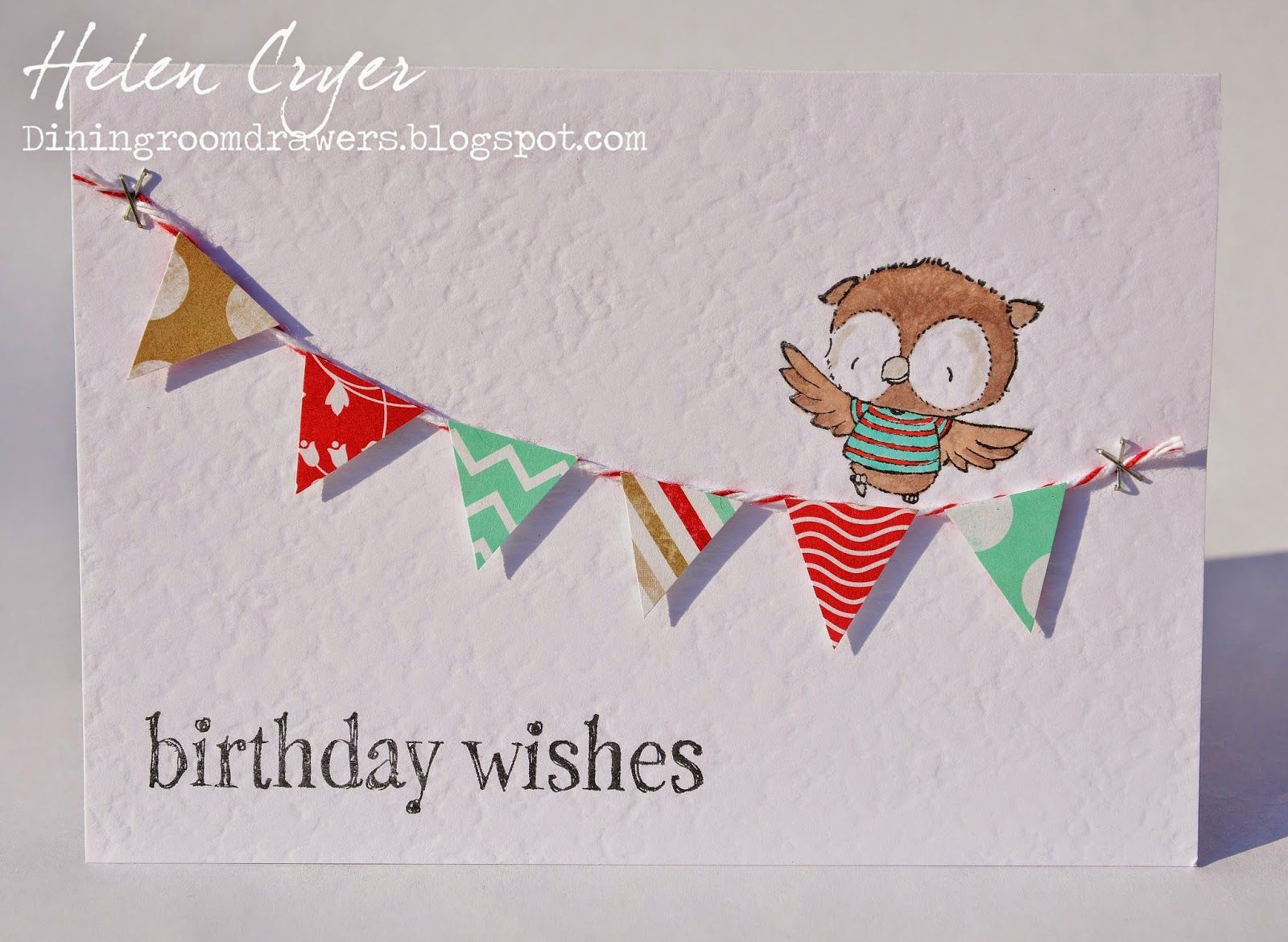 The Dining Room Drawers: Purple Onion Designs Owl & Bunting Card