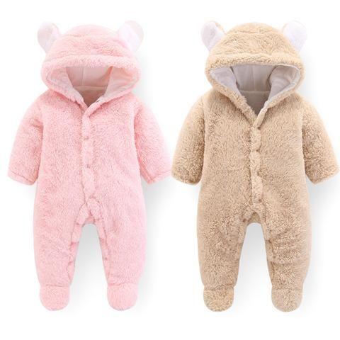 7dcd091b7 BibiCola baby rompers winter autumn bebe warm thick hoodies jumpsuit ...