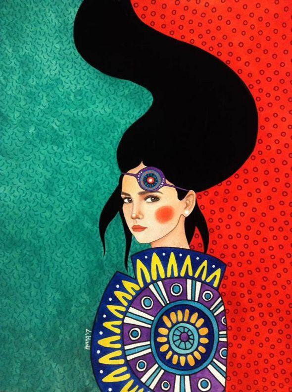 I mille volti delle donne nei ritratti di Hülya Özdemir | PICAME | Arte del  colore, Arte su tela, Stampe d'arte