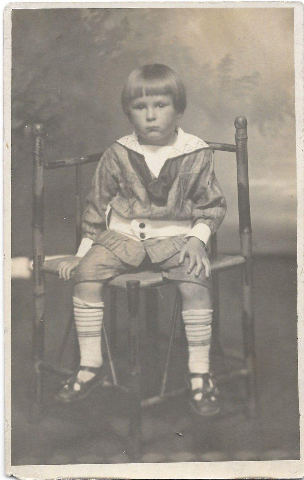 RPPC Little Boy on a Chair - Vintage Real Photo c1911 Postcard | eBay