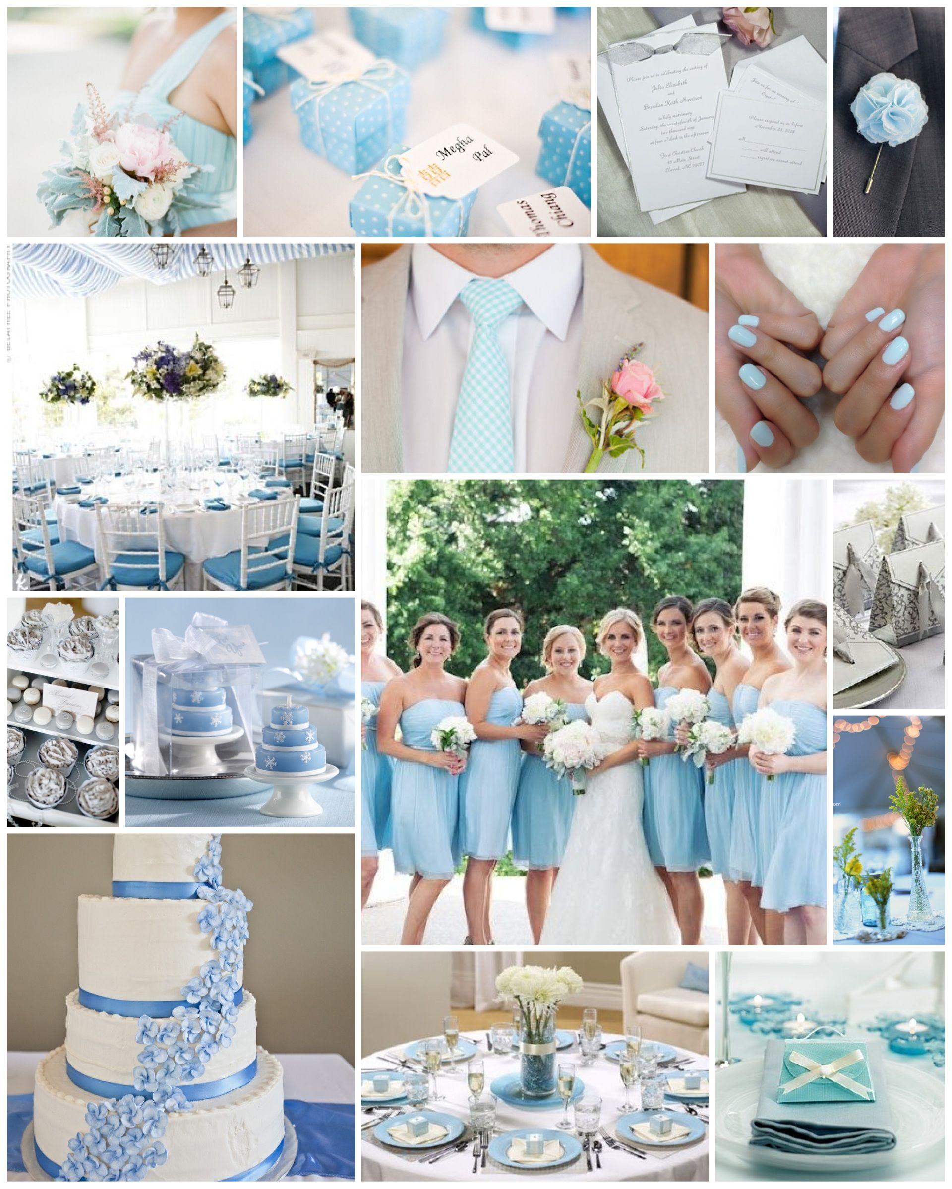 baby light pale blue wedding scheme