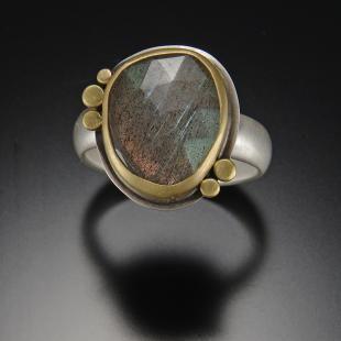 Organic Labradorite Ring   Ananda Khalsa Jewelry   $550.00