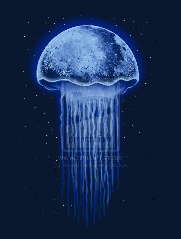 Tat Idea Moon Jellyfish By Fathi Dhia Deviantart Com On