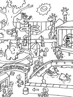Ausmalbild Zoo Tiere Kita Zoo Coloring Pages Zoo Animal