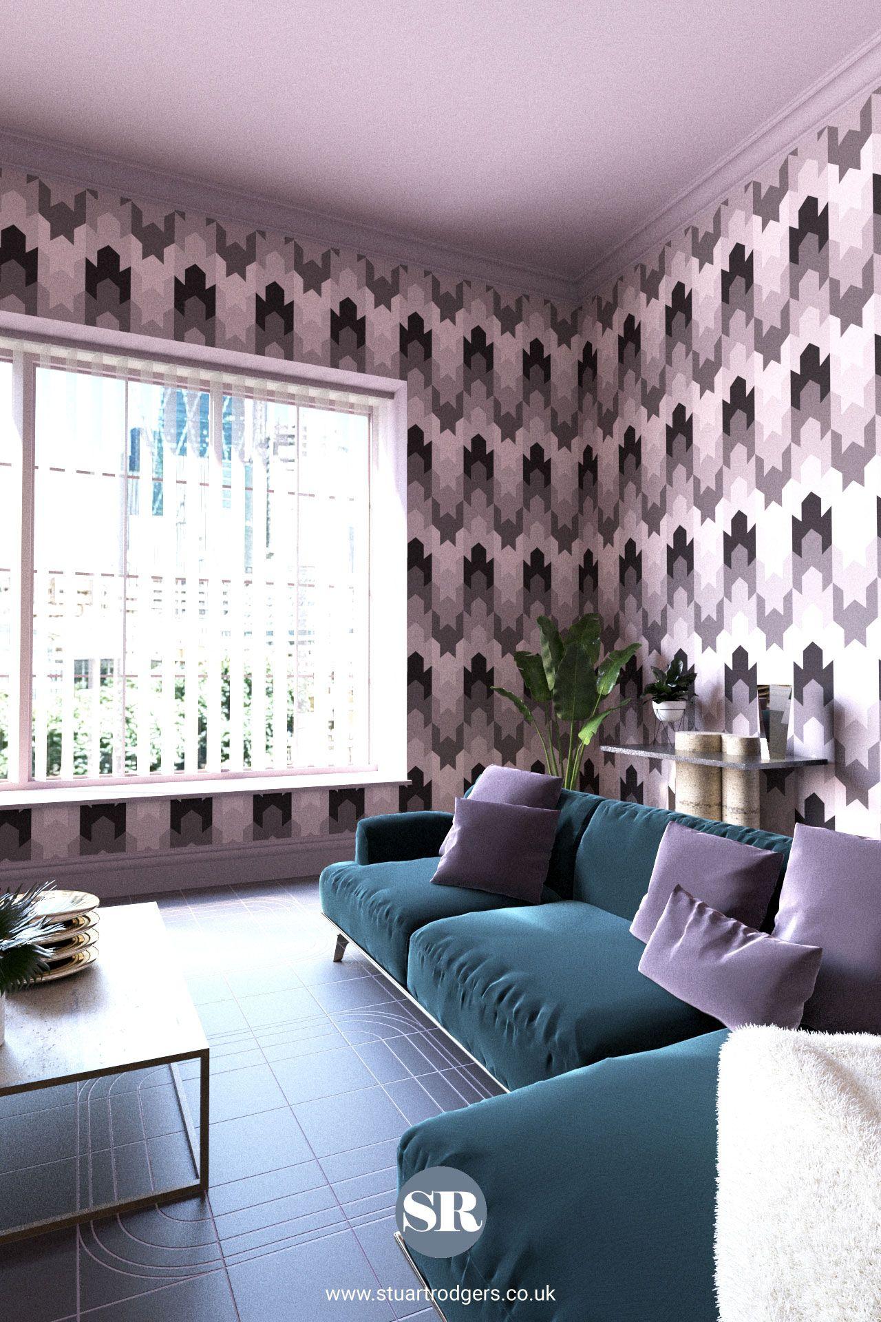 Stitch Dart Up Down Mauve Wallpaper Wallpaper Living Room Wallpaper And Tiles Home