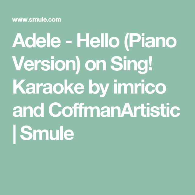 One call away karaoke piano lyrics for songs