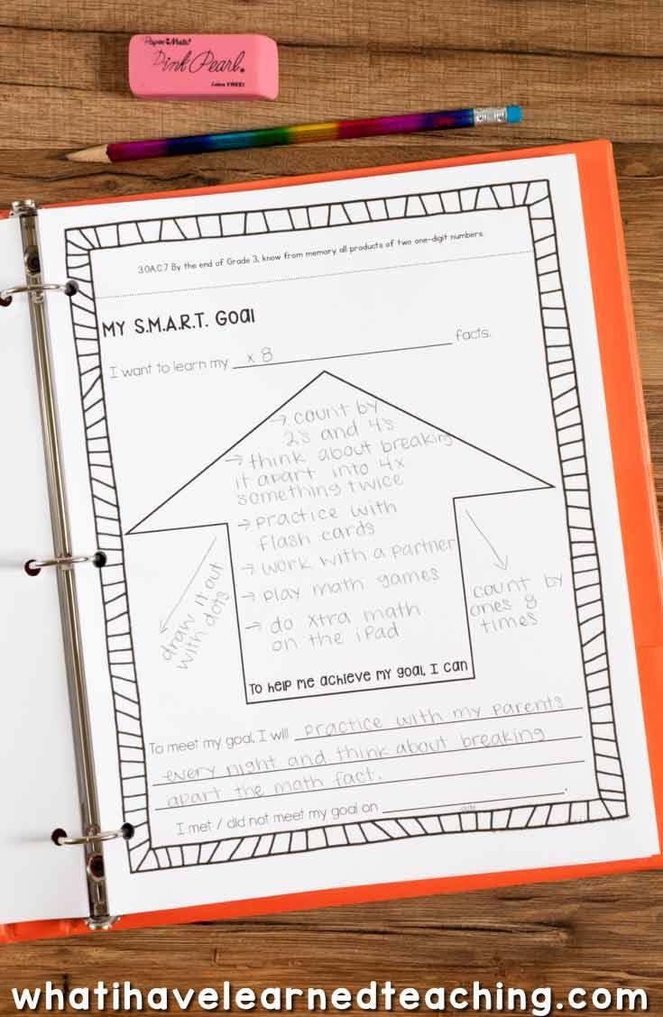 goal setting data portfolio for elementary students what i have