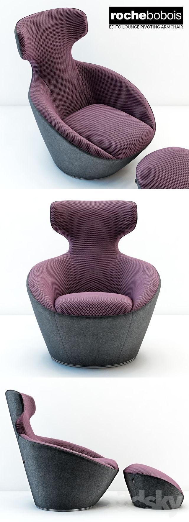 Peachy 3D Models Arm Chair Roche Bobois Edito Lounge Pivoting Beatyapartments Chair Design Images Beatyapartmentscom